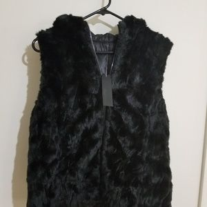 Kenneth Cole Reversible Faux Fur Vest